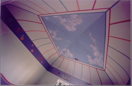 Peinture trompe l 39 oeil reflet du r el ambiance d cors for Faux plafond chambre enfant